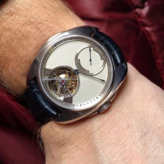 #AKRIVIA Tourbillon Regulateur white dial 1 barrel 100 power reserve  #tourbillon #Regulateur #DubaiWatchweek #Mexico #SIAR #QuillandPad #watches #watchmaking #GenevaGrandprix #Horology #masterpiece #complication #bergerjoyeros #seddiqi #watchmania #WatchAnish #watchporn #watchworld #watchoftheday #geneva #switzerland #swisswatches #swissmade #fpjourne #patekcollector #PatekGallery #tiempoderelojes #relojeria #deployant by naomibarokas