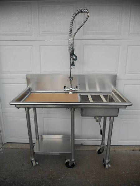 Fish cleaning station add to outdoor kitchen bvi beach for Homemade fish cleaning table