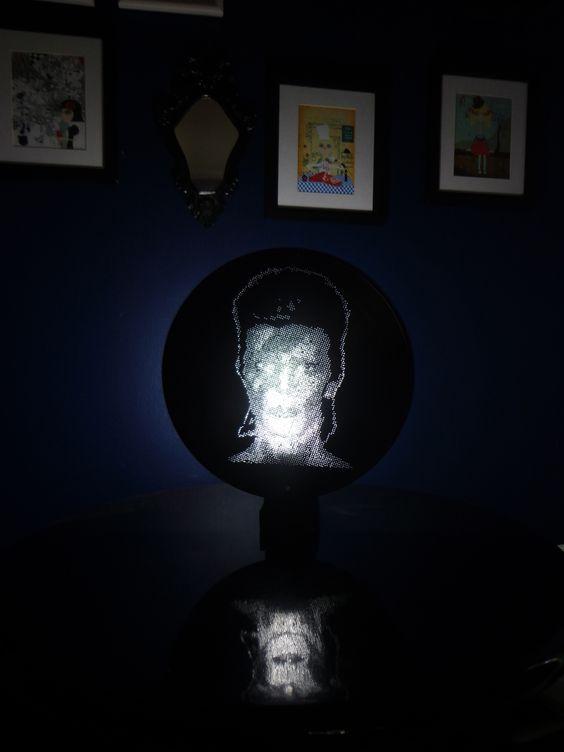 arte em Vinil luminária