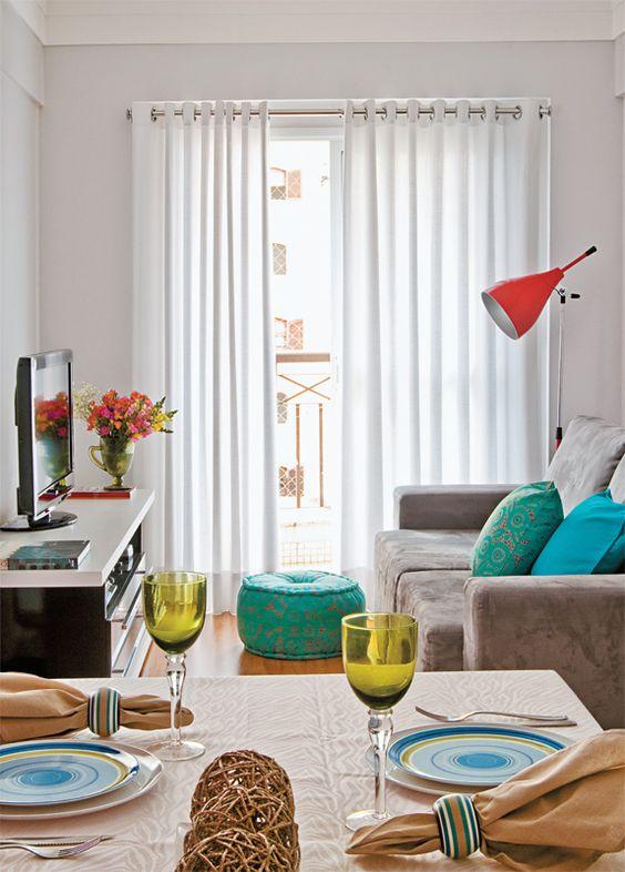 Sala fofa... (50 salas pequenas e cheias de estilo - Casa):
