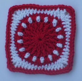 "Seeing Spots - can be made 6"" or 12""   . . . .   ღTrish W ~ http://www.pinterest.com/trishw/  . . . .   #crochet #granny_square"