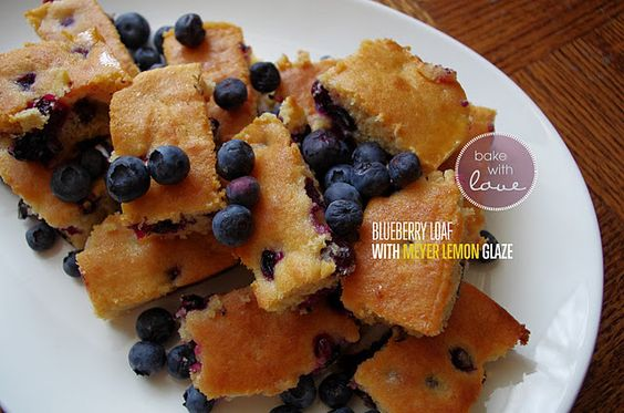 Blueberry loaf cake with meyer lemon glaze  - the most moist and delicious cake that can be made with any berry you like.