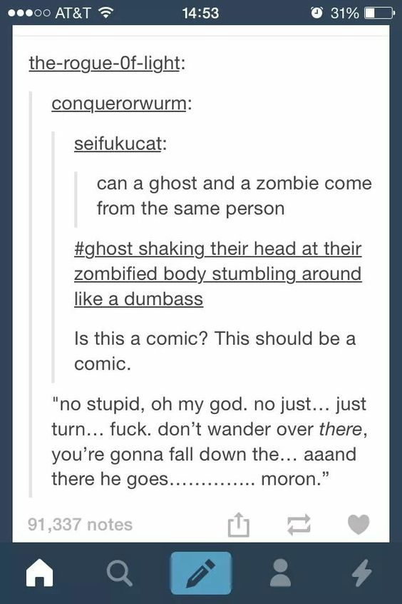 Ghost and a zombie