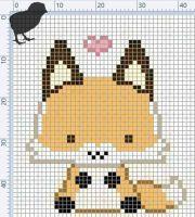 cross stitch fox - Pesquisa Google