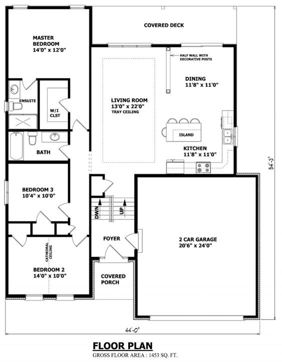 Narrow raised bungalow canadian home designs custom for Bungalow house plans canada