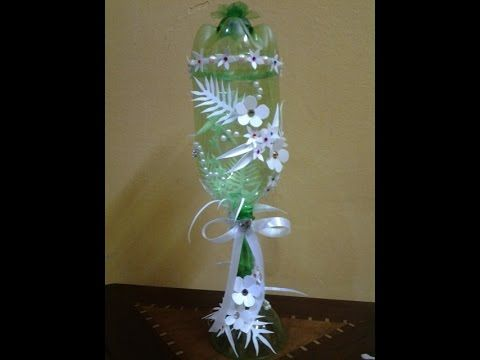 Best out of waste plastic bottles and can transformed to for Decorative items from waste bottles