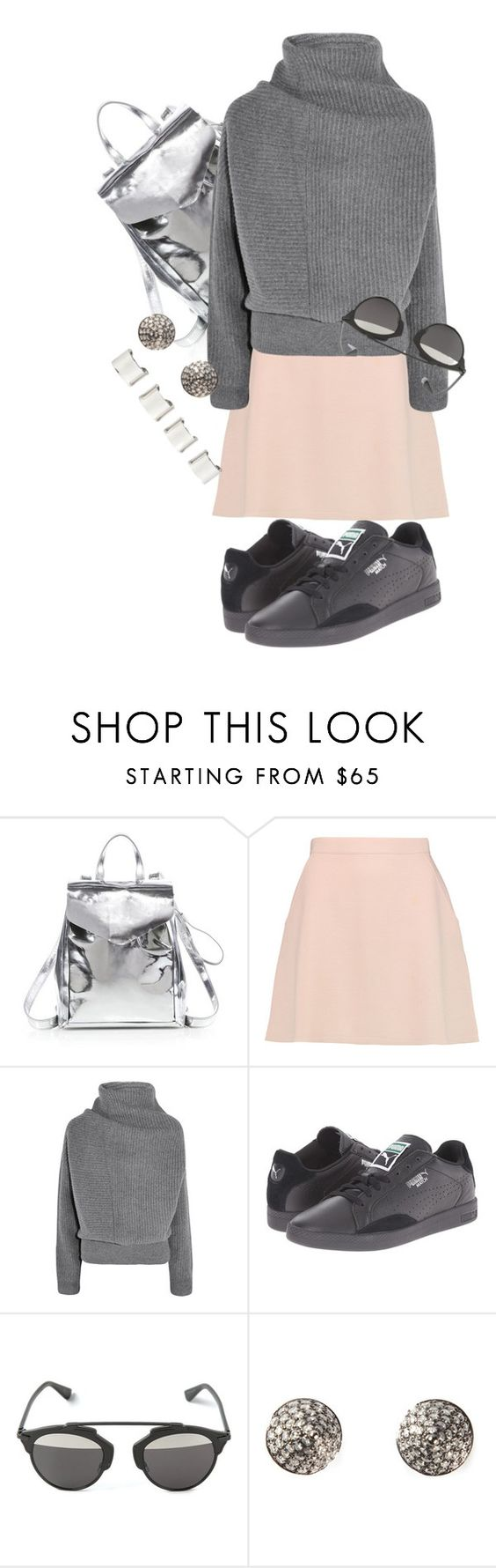 """""""Untitled #483"""" by heybrub ❤ liked on Polyvore featuring Loeffler Randall, Être Cécile, Acne Studios, Puma, Christian Dior, Elise Dray, Maison Margiela, women's clothing, women's fashion and women"""