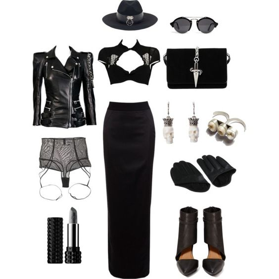 Not to mess with by sulfur on Polyvore featuring Chantal Thomass, Balmain…