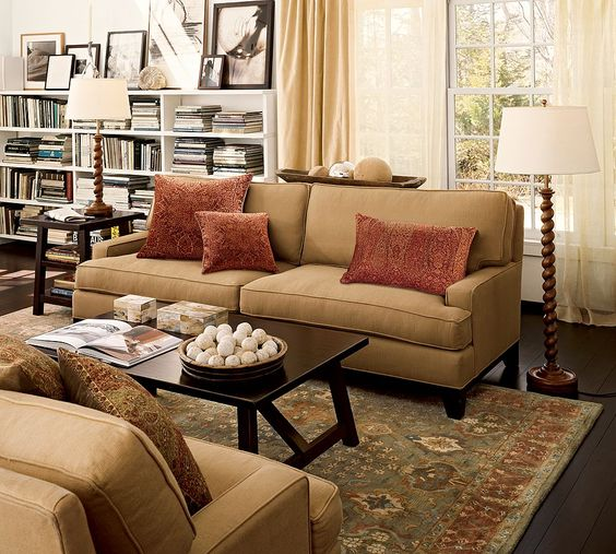 Pottery Barn Living Room I Can See Two Couches Or Loveseats Facing