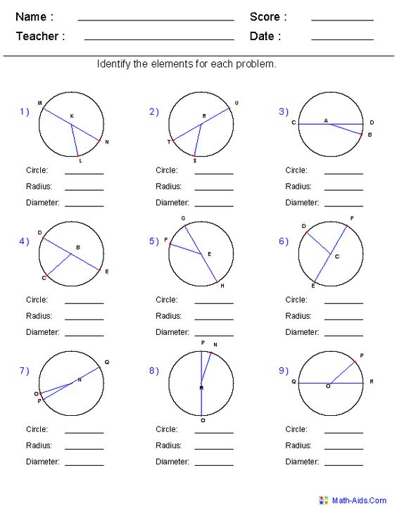 Printables Radius And Diameter Worksheets identify circle radius and diameter worksheets math aids com worksheets
