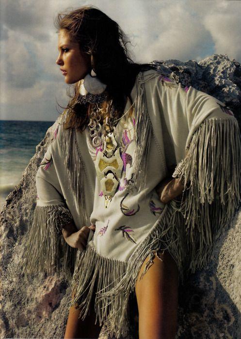 Catherine McNeil | Emma Summerton #photography | Vogue UK June 2008 | #bohemian #boho #hippie #gypsy