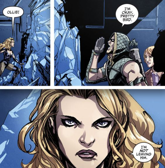 """""""Dinah. We have to go."""" Black Canary and Green Arrow in Injustice"""