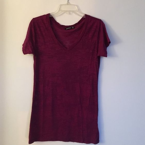Alternative Apparel Purple V-Neck Tee Alternative Apparel tee- super comfy and soft! It's on the long side and I like wearing it with leggings. Very good condition. Alternative Apparel Tops Tees - Short Sleeve