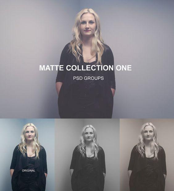 Photoshop Matte Collection One  PSD Filter von GlamorousIDesign  #photoshop #filter #psd #blackwhite #sepia #rose #matte