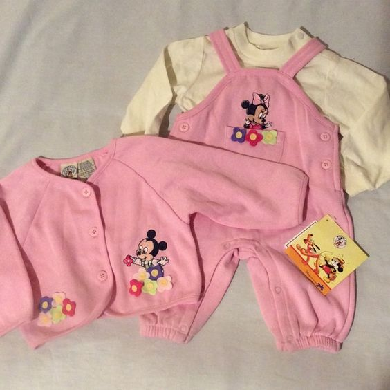 Disney 3 pcs Minnie Mouse Set So Adorable!  The price was torn off the tag.  I looks like a big 6mos. Disney & Co. Other