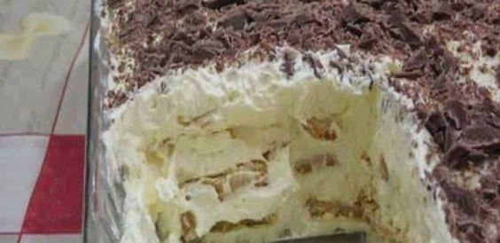 Dica para você: Torta de Bolacha com Creme de Manteiga da Teca. Compartilhe com amigos!