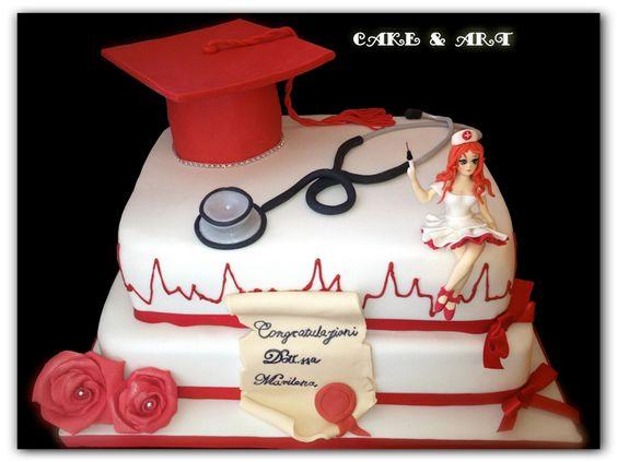 Pin Torta Laurea Scienze Infermieristiche Cake On Pinterest