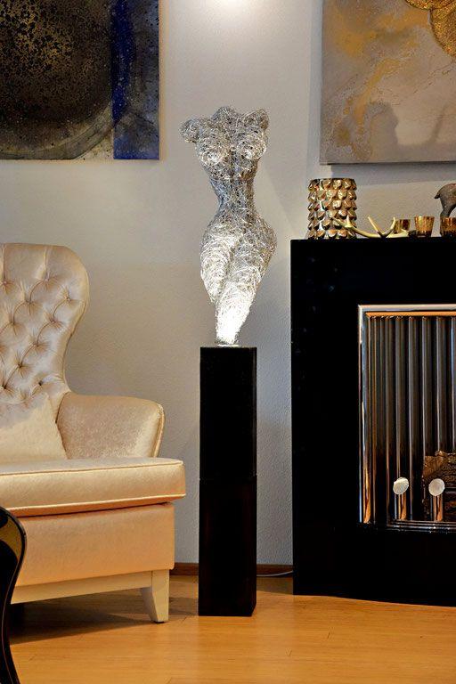 Design Draht Lampen Draht Skulptur Leuchten Led Licht Kunst Made In Germany Schoner Wohnen Deutschland Weihnachtsenge Skulpturen Drahtskulptur Licht