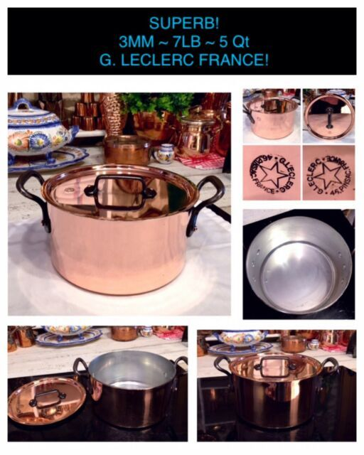 Matfer Copper Tinned Saucepan 3mm Hammered 20cm 8 French Cook