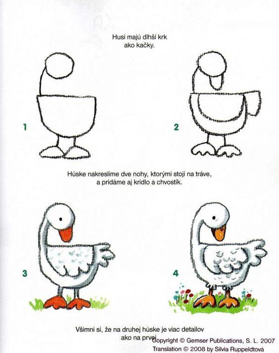 Animales activit s and canards on pinterest - Dessiner une oie ...