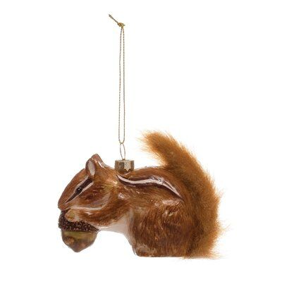 Squirrel Hanging Figurine Ornament The Holiday Aisle Unique Ornament Ornaments