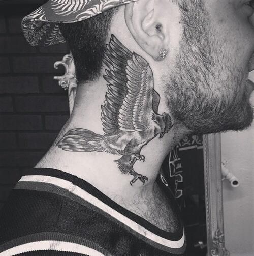 Mac Miller Neck Tattoo Mac Miller Tattoos Neck Tattoo Mac Miller