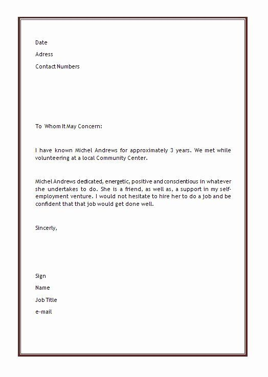 40 Letter Of Recommendation Templates Word With Images