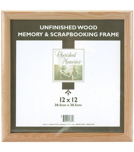 Wooden Memory Frame 12x12 Unfinished Memory Frame Frame Photo Frame Wall