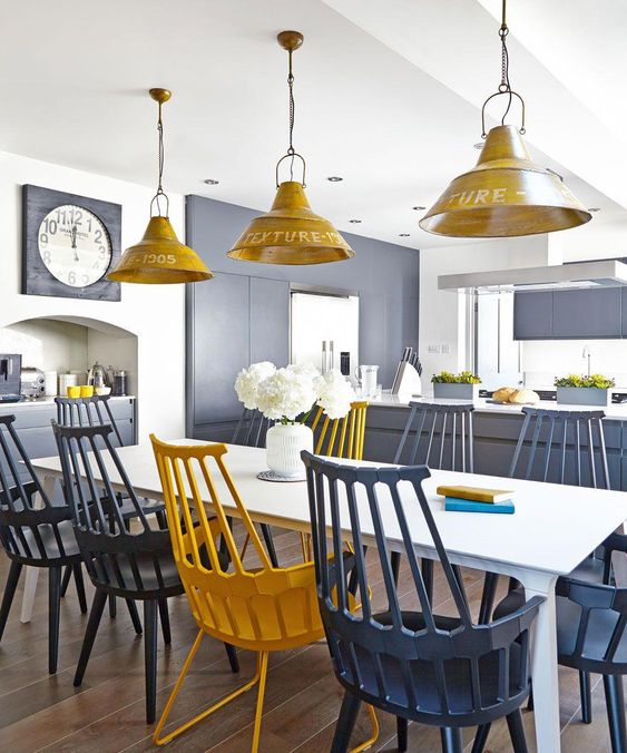 Looking for kitchen lighting ideas and kitchen lights? Check out these great ways for lighting a kitchen, including kitchen pendant lights and LED light #graykitchen