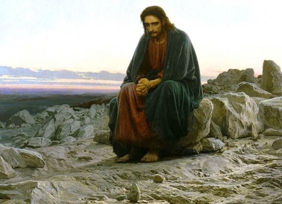Jesús en el Desierto.