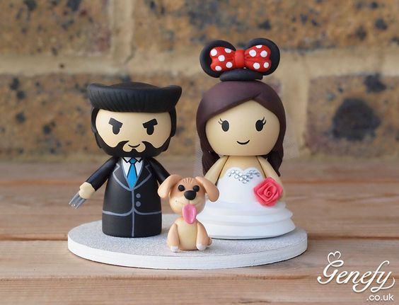 Superhero Logan and bride wedding cake topper by Genefy Playground https://www.facebook.com/genefyplayground: