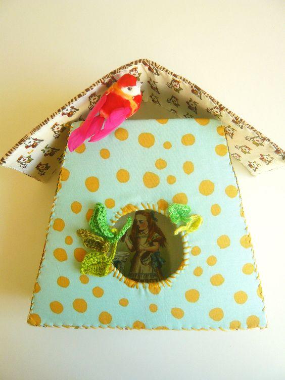 Alice in wonderland's birdhouse