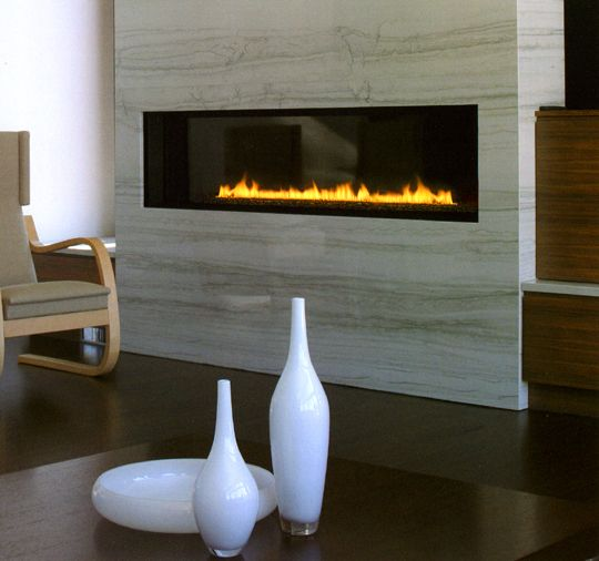 Fireplaces contemporary fireplaces and linear fireplace for Eco friendly fireplace