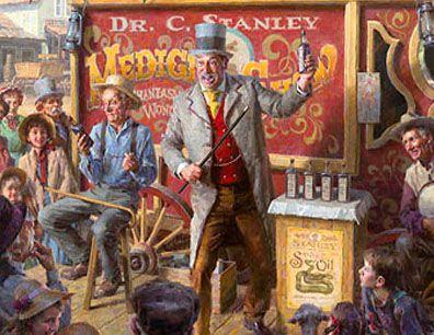 Image result for images of snake oil salesman