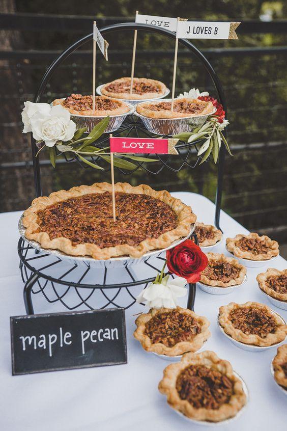 Autumn Wedding dessert table | i take you