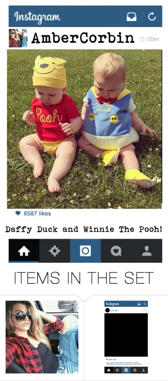"""""""Winnie and Daffy"""" by wwegirl2424 ❤ liked on Polyvore featuring art"""