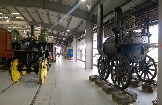 Together at last – standing side by side in the NRM outpost at Shildon are the…