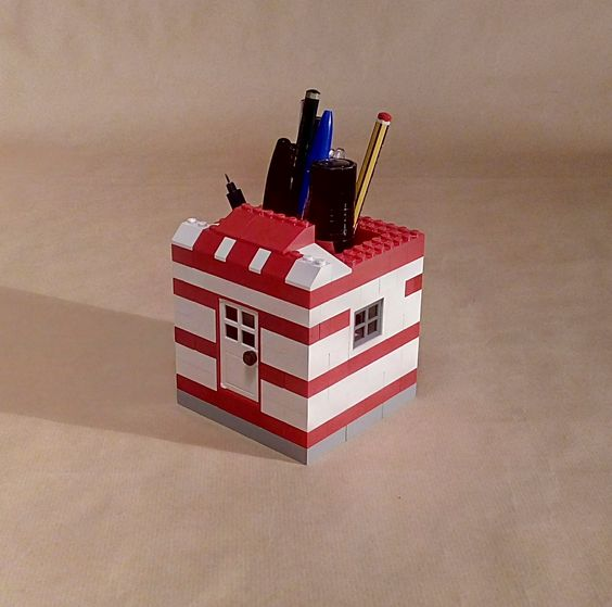lego pencil holder on Behance
