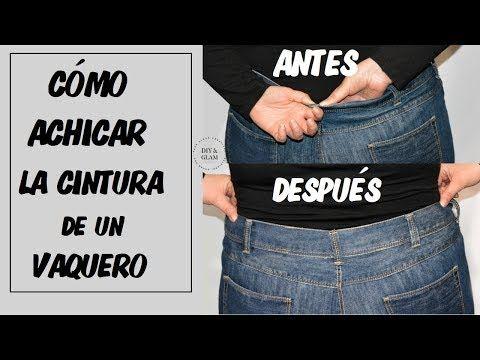 Cómo Achicar O Reducir Una Cintura De Un Vaquero Youtube Como Achicar Un Pantalon Cintura Como Coser Un Pantalon