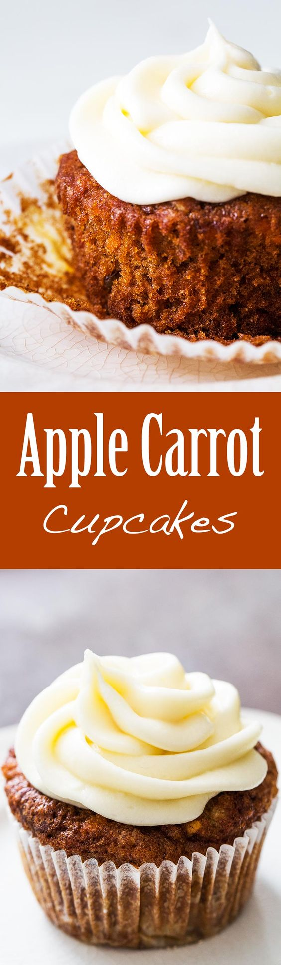 ... apple carrot cupcake is the best of both! Perfect for a party! On