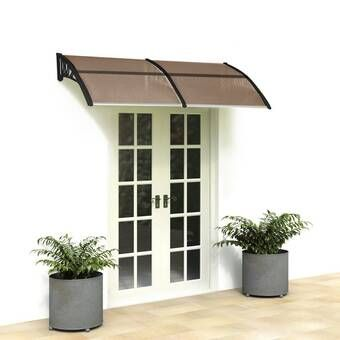 Freeport Park Alvin 7 Ft W X 3 Ft D Polycarbonate Standard Door Awning Reviews Wayfair In 2020 Front Door Awning Front Doors With Windows Window Awnings