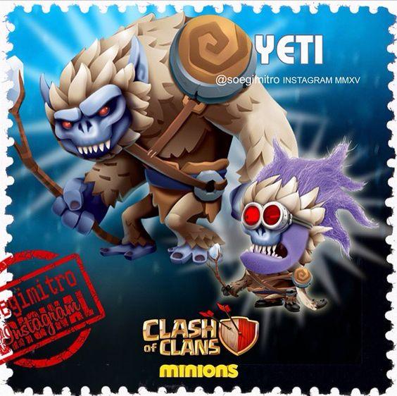 clash of clans yeti minions