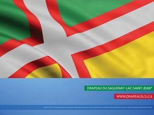 Depuis le 4 juillet 1938, le Saguenay-Lac-Saint-Jean est la seule région du Québec qui dispose d'un drapeau officiel.  #175eSagLac