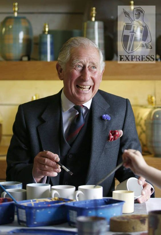 "Express Pictures on Twitter: ""Skillful painter Prince Charles enjoys an afternoon of arts & crafts in Scotland"