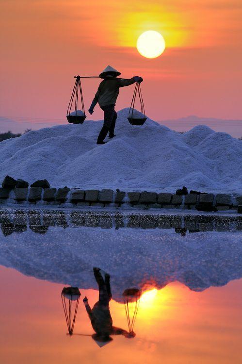 Salt worker - Nha Trang, Vietnam