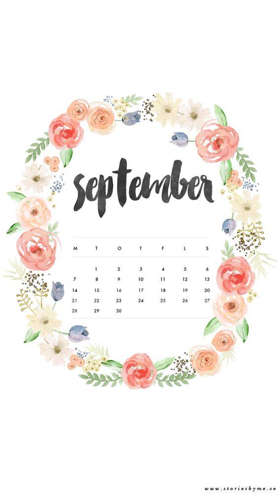 Calendar Wallpaper Iphone : Iphone wallpaper september calendar my