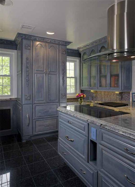kitchens kitchens blue pearl grey kitchens floors blue tile blue pearl