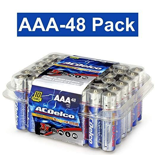 Amazon Com Acdelco Aaa Super Alkaline Batteries In Reclosable Package 48 Count Electronics 12 49 Great Value Buy Now Alkaline Battery Acdelco Aaa