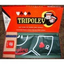 Tripoley is a classic American board game for 2-9 players. The game combines the play of Michigan Rummy, Hearts, and Poker.    After all Cards are...