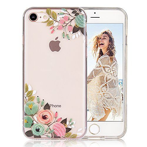 COSANO iPhone 8 case, for iPhone 7 case girls Floral Clea https